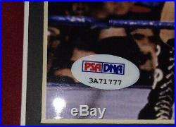 Bret Hart & Rowdy Roddy Piper Signed Autograph 8x10 Framed Photo Coa Psa