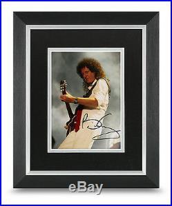 Brian May Signed 10x8 Photo Framed Queen Memorabilia Autograph COA