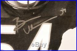 Brian Urlacher Signed Bears Bear Hug 20x44 Custom Framed Poster (Beckett COA)