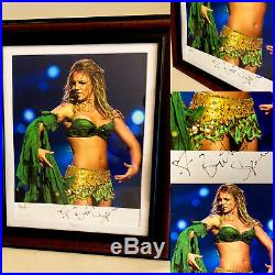 Britney Spears FRAMED SIGNED AUTOGRAPH PHOTO Dream Slave Tour RARE COLLECTOR