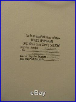 Bruce Barnbaum Lower Antelope Canyon 16x20 framed signed silver gelatin print