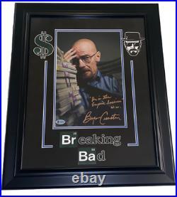 Bryan Cranston Breaking Bad Signed Framed 8x12 Photo Inscription Beckett Coa
