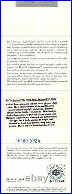 Bulls Michael Jordan Signed Framed 11.25x35 Film Strip Photo LE #57/250 UDA