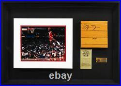 Bulls Michael Jordan Signed & Framed 6x6 GU Floorboard LE #299/1000 UDA & BAS