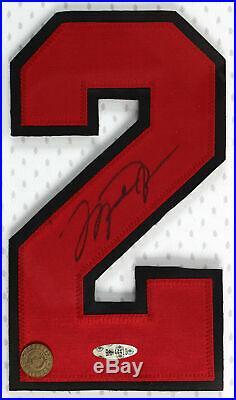 Bulls Michael Jordan Signed & Framed Jersey Number Display UDA #BAH44410