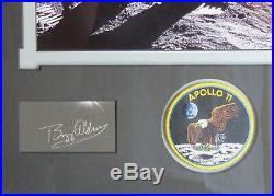 Buzz Aldrin Signed Card Apollo 11 moon landing Pilot Photo Display Framed AFTAL