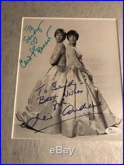 CAROL BURNETT AND JULIE ANDREWS Dual SIGNED PHOTO Framed JSA