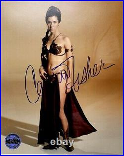 CARRIE FISHER Signed STAR WARS 8X10 Photo OPX Framed PSA/DNA #AE92433 GRADE 10