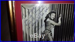 CELIA CRUZ signed FRAMED autograph B/W photo 8x10 Tropicana Nightclub CUBA'59