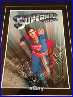 CHRISTOPHER REEVE Signed (JSA) Autograph SUPERMAN Framed Photo psa bas