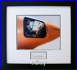 CHUCK YEAGER IN THE BELL X-1 SIGNED 8 x 10 Framed Photograph Collectible