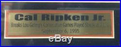 Cal Ripken Jr. Signed Autographed & Framed 16x20 Photo With JSA Baltimore Orioles