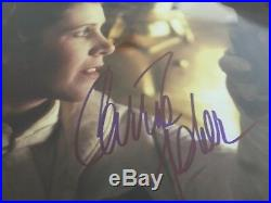 Carrie Fisher Billy Dee Williams Autographed Signed Framed Star Wars 16x20 Photo
