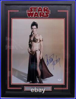 Carrie Fisher Signed Princess Leia Star Wars 16x20 Photo Framed Psa/dna Z29163