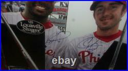 Chase Utley/Ryan Howard Philadelphia Phillies Signed 16x20 Framed Photo COA