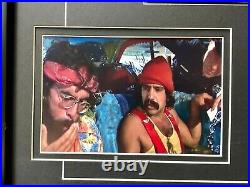 Cheech & Chong Signed MUF DVR Movie Car License Plate Framed Collage BAS Auto