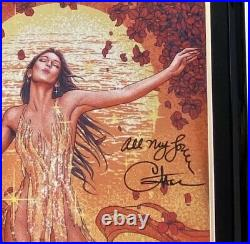 Cher SIGNED Autographed Framed And Double Matte Rare Foil Poster 28 X 22