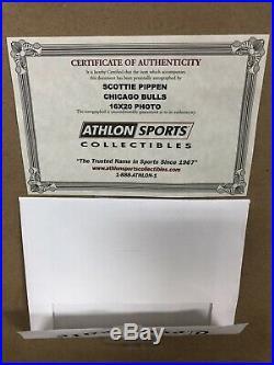 Chicago Bulls Scottie Pippen Signed Autograph 16x20 Photo Framed Steiner COA