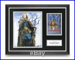 Christopher Lambert Signed 16x12 Framed Photo Display Highlander Autograph COA