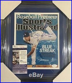 Clayton Kershaw Signed Autographed 8x10 Custom Framed Photo Dodgers Cy Jsa Coa