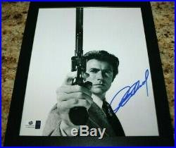 Clint Eastwood Dirty Harry Signed Auto Authenticated Movie Star Framed Photo Coa