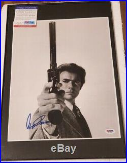 Clint Eastwood Dirty Harry signed 11x14 Photo PSA DNA (No Frame)