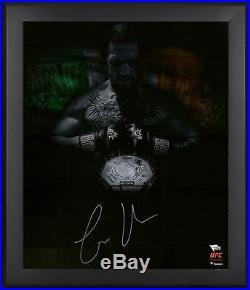 Conor McGregor UFC Framed Signed 20 x 24 UFC 205 King of New York Photo