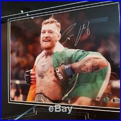 Conor Mcgregor Signed Autographed Frame Ufc Belt + Photograph Shadowbox