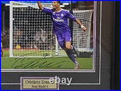 Cristiani Ronaldo Real Madrid Framed Autographed Official Photo Icons Certified