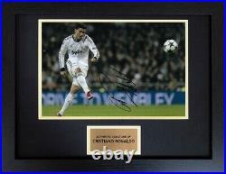 Cristiano Ronaldo Real Madrid Football Framed Signed Autograph Photo COA