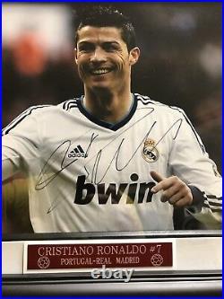 Cristiano Ronaldo Signed 11x14 RARE PSA COA Autograph Auto Framed Photo