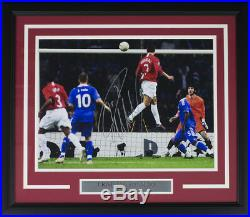Cristiano Ronaldo Signed Framed Manchester U 12x16 UCL Goal Soccer Photo Icons