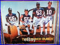 Crunch Bunch NY Giants Signed 20x24 Photo Taylor Carson Kelley Van Pelt FRAMED