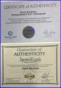 DAVID BECKHAM Autograph Signed Photo 8x10 England Collage FRAMED Plaque COA