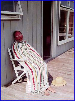 DAVID HOCKNEY Signed 1973 Original Color Photograph Henry Avoiding the Sun