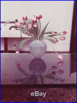 DAVID HOCKNEY Signed 1973 Original Color Photograph Pretty Tulips