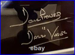 DAVID PROWSE SIGNED STAR WARS DARTH VADER 16x20 PHOTO FRAMED BECKETT BAS 14892