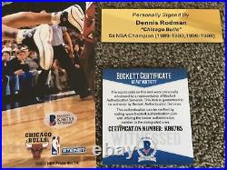 DENNIS RODMAN Autograph Signed Photo 8x10 Chicago Bulls FRAMED Plaque COA