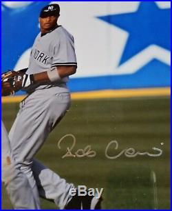 DEREK JETER & CANO 16 x 20 Autograph Framed Steiner & MLB Cert Signed NY Yankee