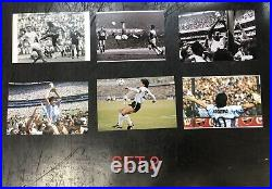 DIEGO MARADONA & EDSON PELE SIGNED Jerseys Argentina Brazil &Photos FRAMED COAs