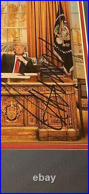 DONALD TRUMP AUTO JSA Autograph Signed Photo Oval Office MAGA 8x10 Framed