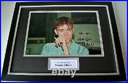 Damon Albarn SIGNED FRAMED Photo Autograph 16x12 display Blur Music & COA
