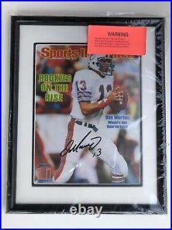 Dan Marino Signed Sports Illustrated Autographed Photo Framed UDA COA