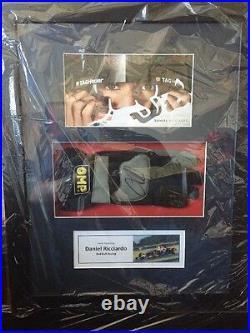 Daniel Ricciardo Hand Signed F1 OMP Glove and Photo Framed Red Bull Display