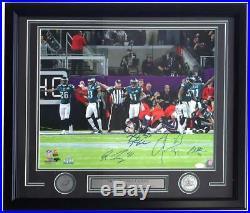 Darby Bradham Mills Robinson Signed Framed 16x20 Eagles Super Bowl 52 Photo JSA