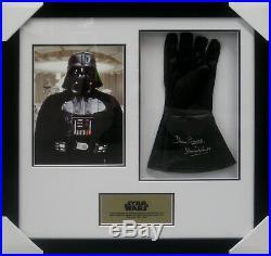 Darth Vader Star Wars David Prowse Signed & Worn Framed Glove + Coa + Real Deal