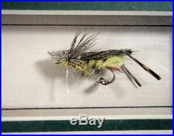 Dave & Emily Whitlock Framed Signed Photos with Original Flies Price Reduction