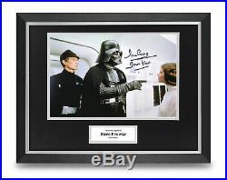 Dave Prowse Signed 16x12 Framed Photo Display Darth Vader Star Wars Memorabilia