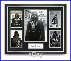 Dave Prowse Signed Photo Large Framed Darth Vader Star Wars Autograph Display