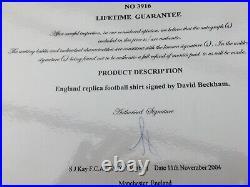 David Beckham Framed Signed Shirt & Photos